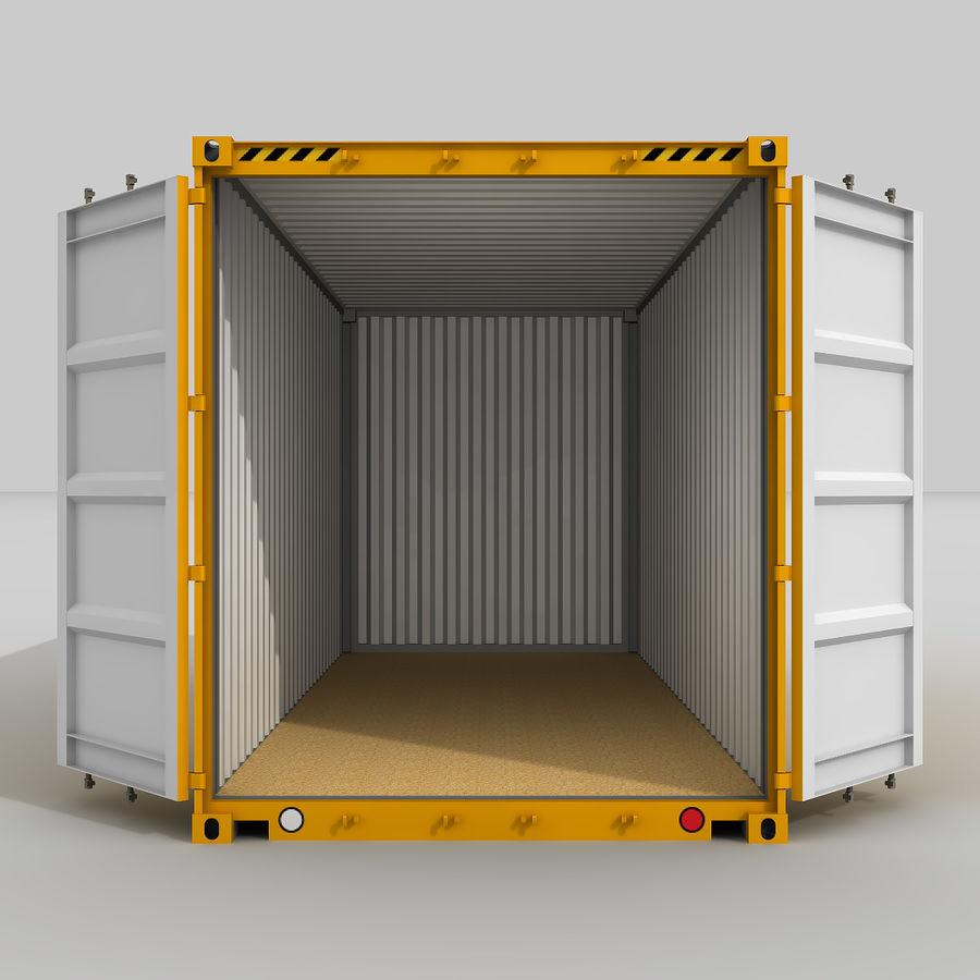 20 ft. Nakliye Konteyneri royalty-free 3d model - Preview no. 3