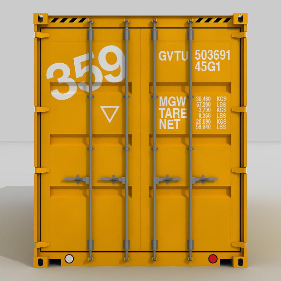 20 ft. Nakliye Konteyneri royalty-free 3d model - Preview no. 1