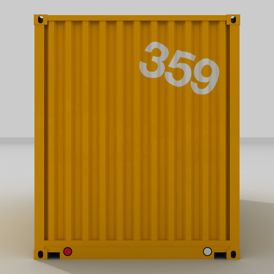 20 ft. Shipping Container royalty-free 3d model - Preview no. 2