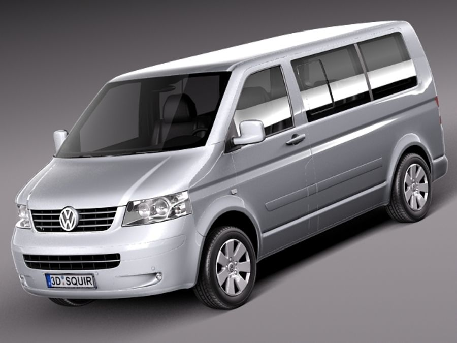 Volkswagen T5 Multivan Passagerare 2003-2009 royalty-free 3d model - Preview no. 1