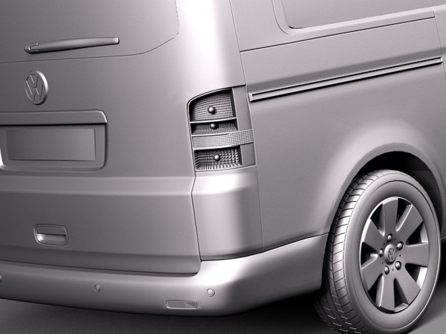 Volkswagen T5 Multivan Passagerare 2003-2009 royalty-free 3d model - Preview no. 11