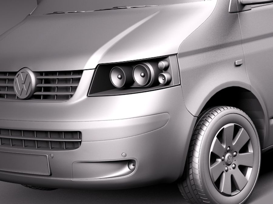 Volkswagen T5 Multivan Passagerare 2003-2009 royalty-free 3d model - Preview no. 10