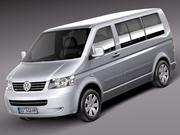Volkswagen T5 Multivan Passagerare 2003-2009 3d model