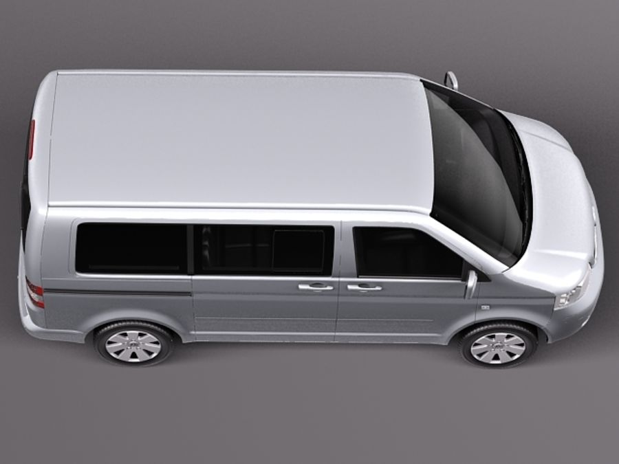 Volkswagen T5 Multivan Passagerare 2003-2009 royalty-free 3d model - Preview no. 8