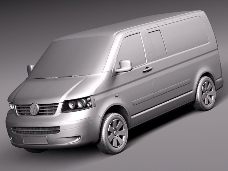 Volkswagen T5 Multivan Passagerare 2003-2009 royalty-free 3d model - Preview no. 9