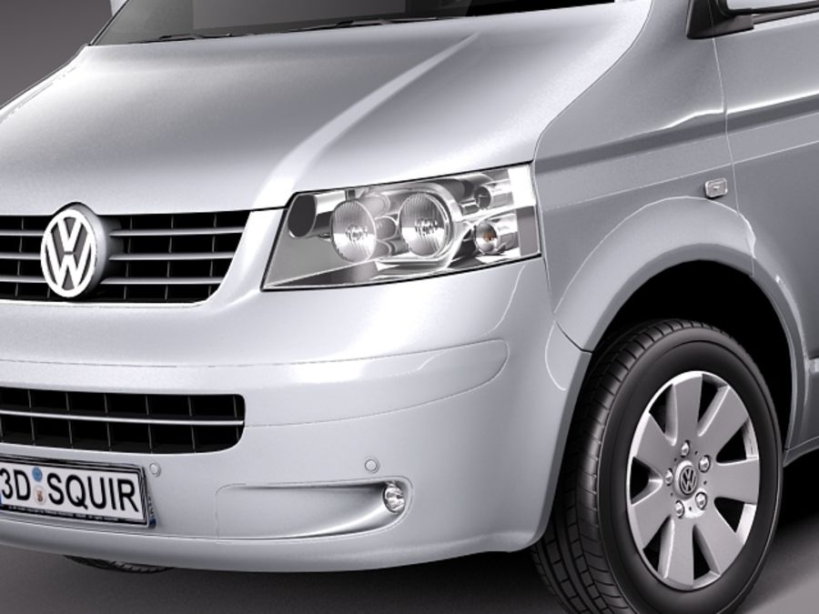 Volkswagen T5 Multivan Passagerare 2003-2009 royalty-free 3d model - Preview no. 3