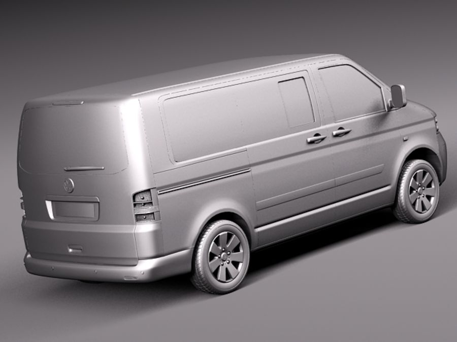Volkswagen T5 Multivan Passagerare 2003-2009 royalty-free 3d model - Preview no. 12