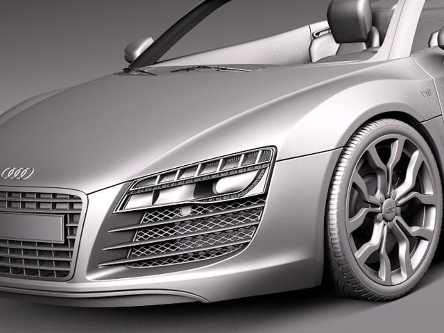 Audi R8 Spyder V10 2014 royalty-free 3d model - Preview no. 11
