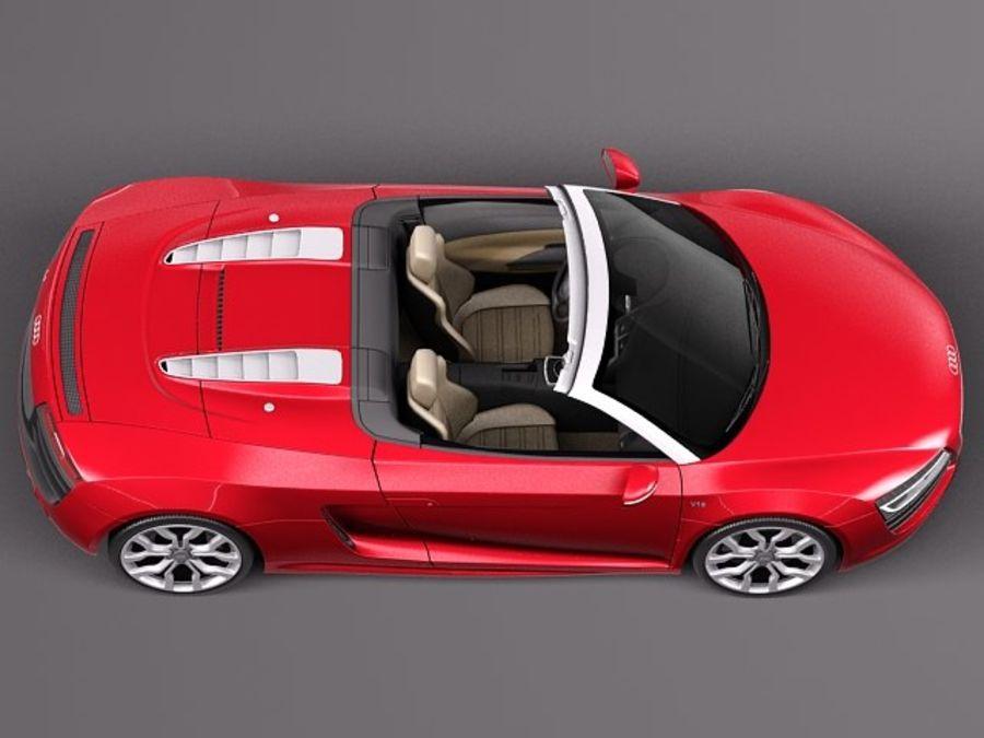 Audi R8 Spyder V10 2014 royalty-free 3d model - Preview no. 8