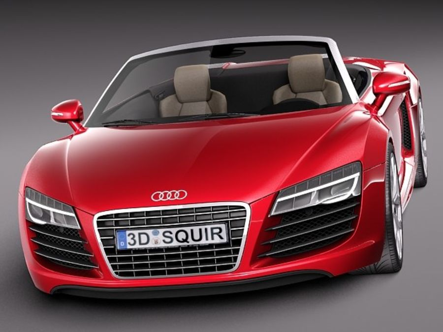 Audi R8 Spyder V10 2014 royalty-free 3d model - Preview no. 2