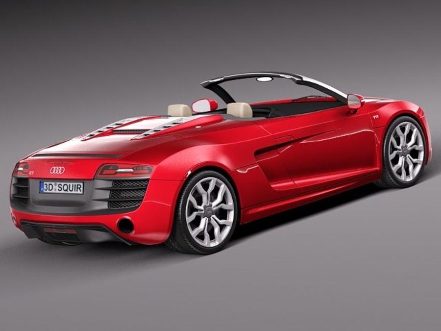 Audi R8 Spyder V10 2014 royalty-free 3d model - Preview no. 5