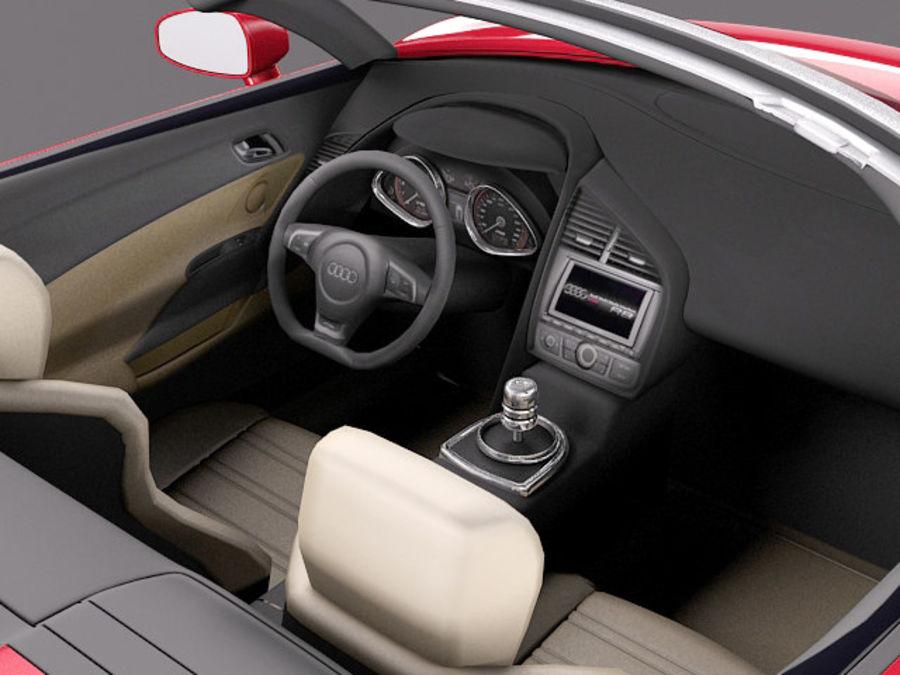 Audi R8 Spyder V10 2014 royalty-free 3d model - Preview no. 9