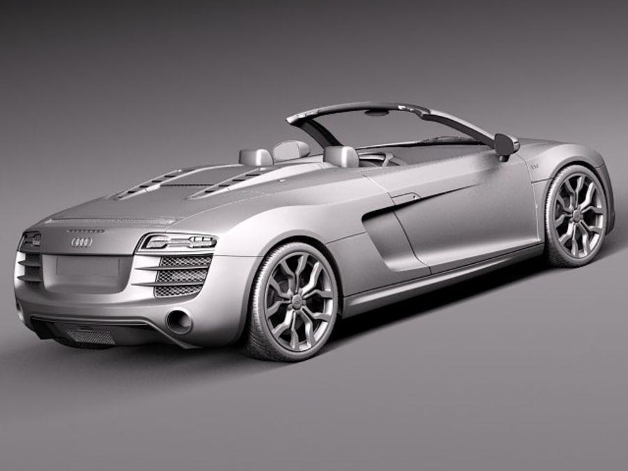 Audi R8 Spyder V10 2014 royalty-free 3d model - Preview no. 13