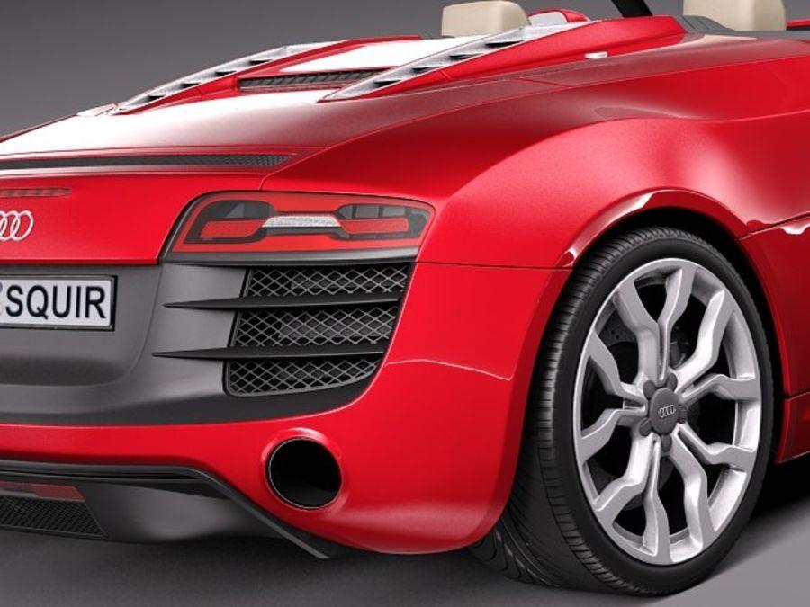 Audi R8 Spyder V10 2014 royalty-free 3d model - Preview no. 4