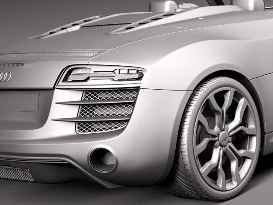Audi R8 Spyder V10 2014 royalty-free 3d model - Preview no. 12