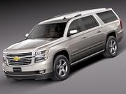 Chevrolet förorts 2015 3d model