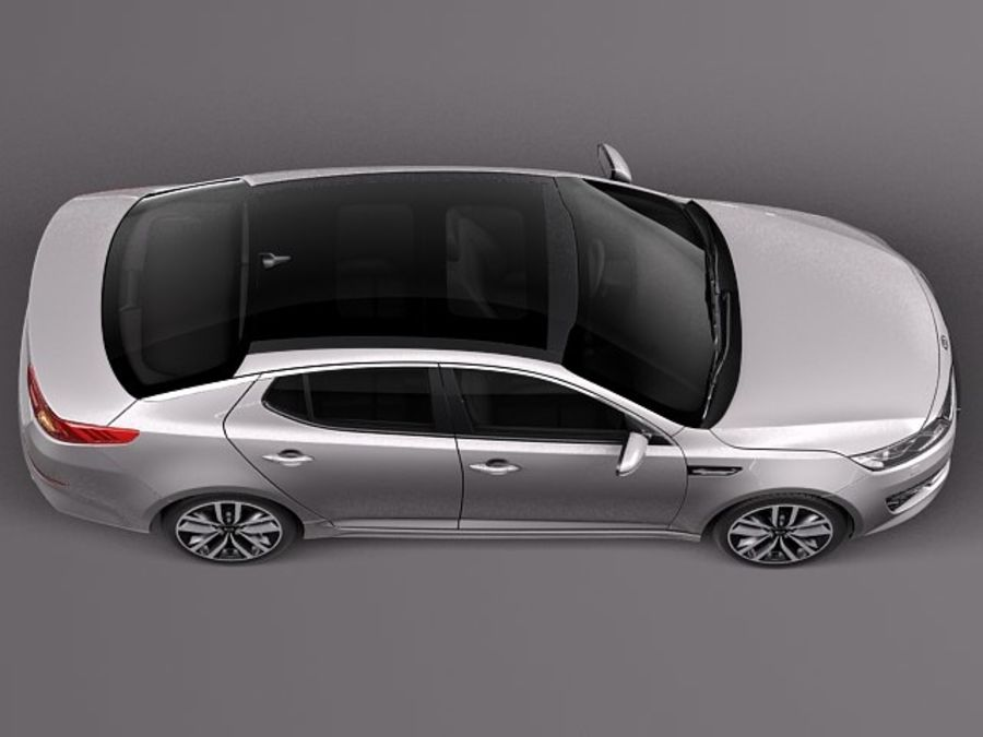 Kia Optima 2014 Spor Paketi royalty-free 3d model - Preview no. 8