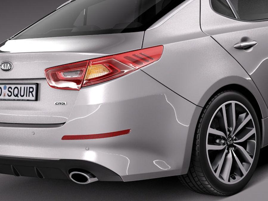 Kia Optima 2014 Spor Paketi royalty-free 3d model - Preview no. 4