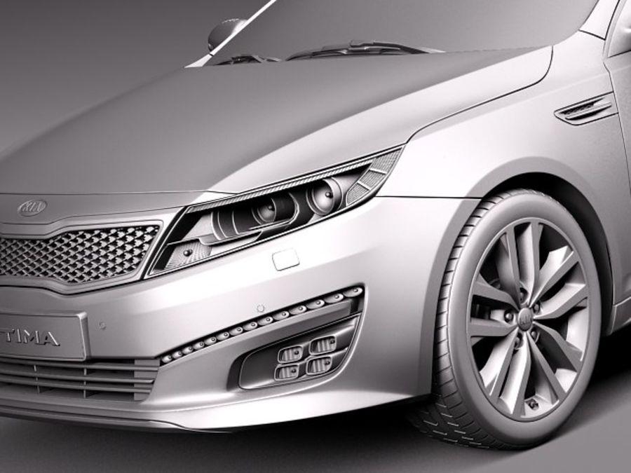 Kia Optima 2014 Spor Paketi royalty-free 3d model - Preview no. 10