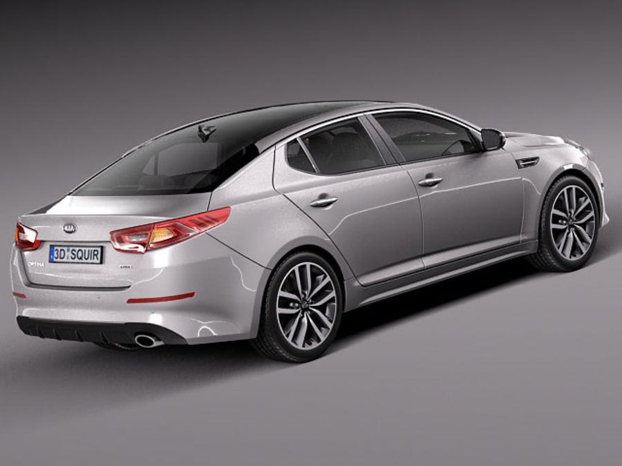 Kia Optima 2014 Spor Paketi royalty-free 3d model - Preview no. 5