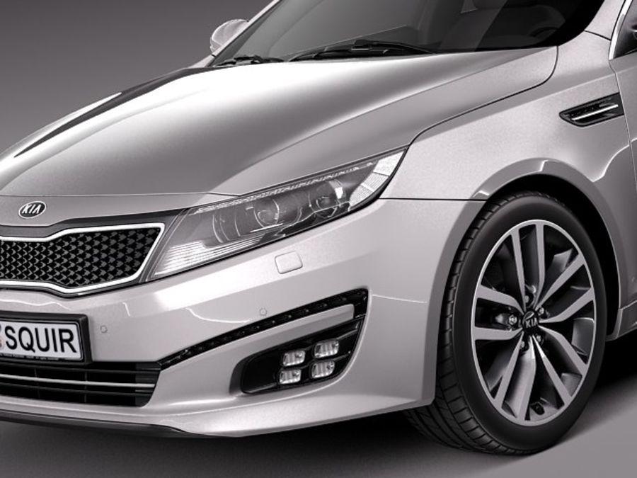 Kia Optima 2014 Spor Paketi royalty-free 3d model - Preview no. 3