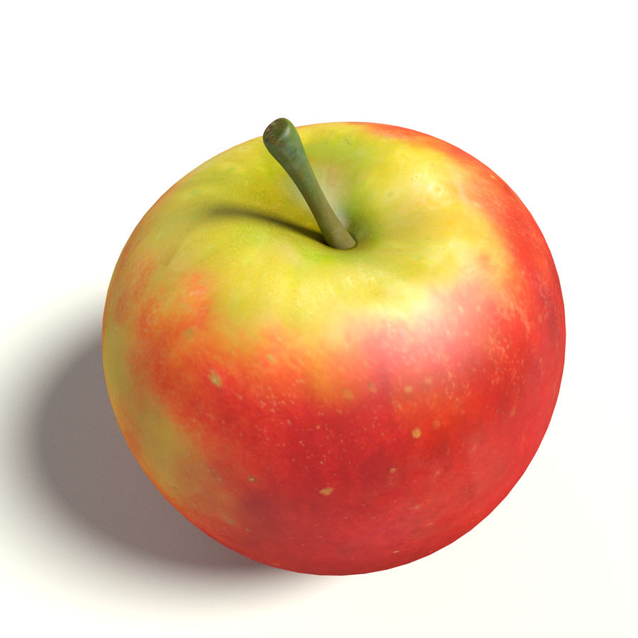 Apfel royalty-free 3d model - Preview no. 2