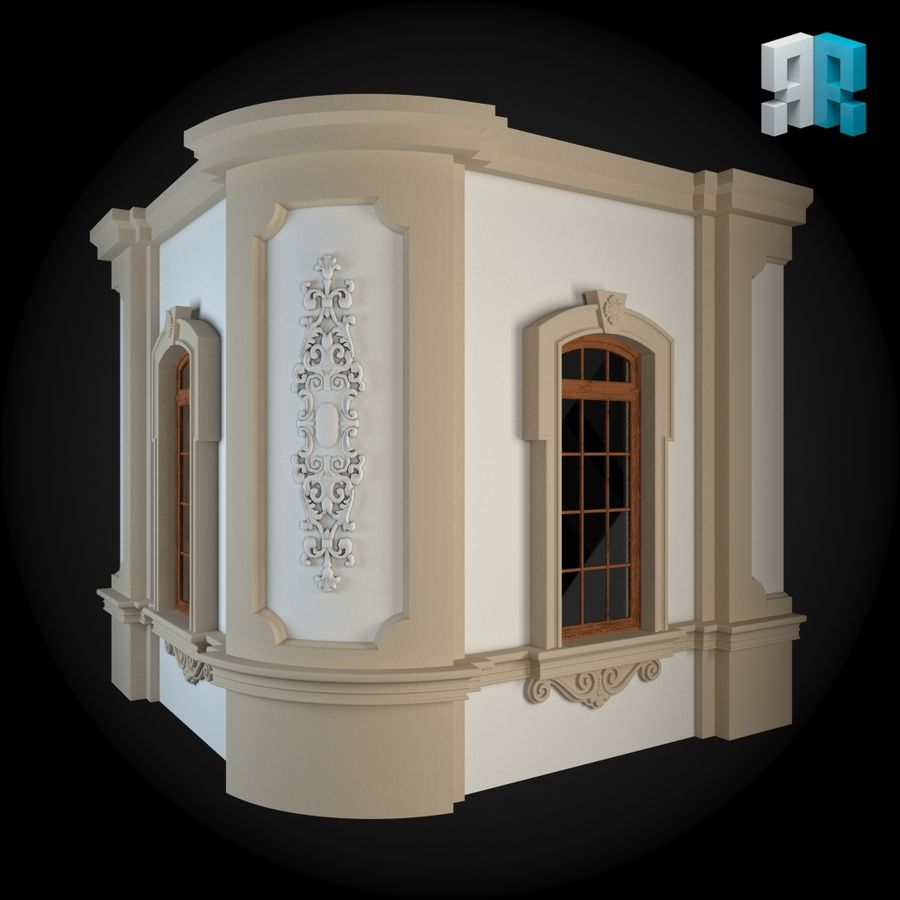 Muro 111 royalty-free modelo 3d - Preview no. 2
