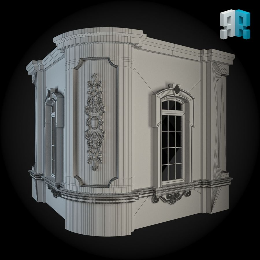 Muro 111 royalty-free modelo 3d - Preview no. 3