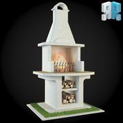 ガーデン暖炉008 3d model