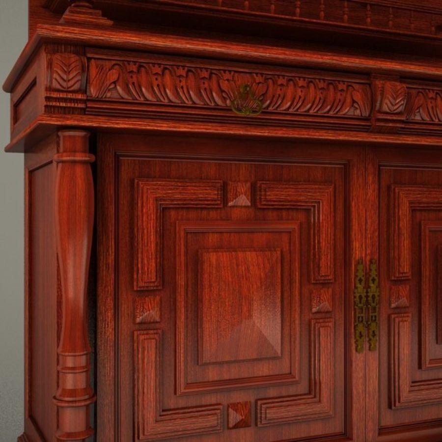 Klassischer antiker Möbelschrank-Marmeladenschrank royalty-free 3d model - Preview no. 3
