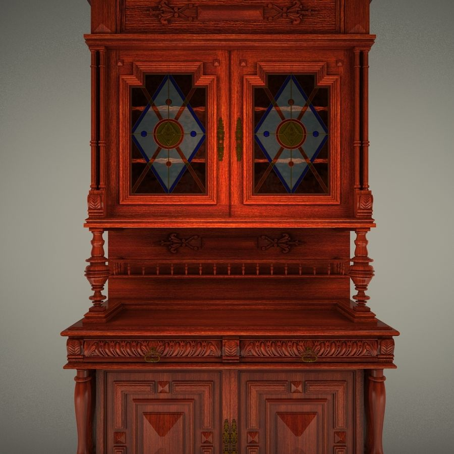 Klassischer antiker Möbelschrank-Marmeladenschrank royalty-free 3d model - Preview no. 1