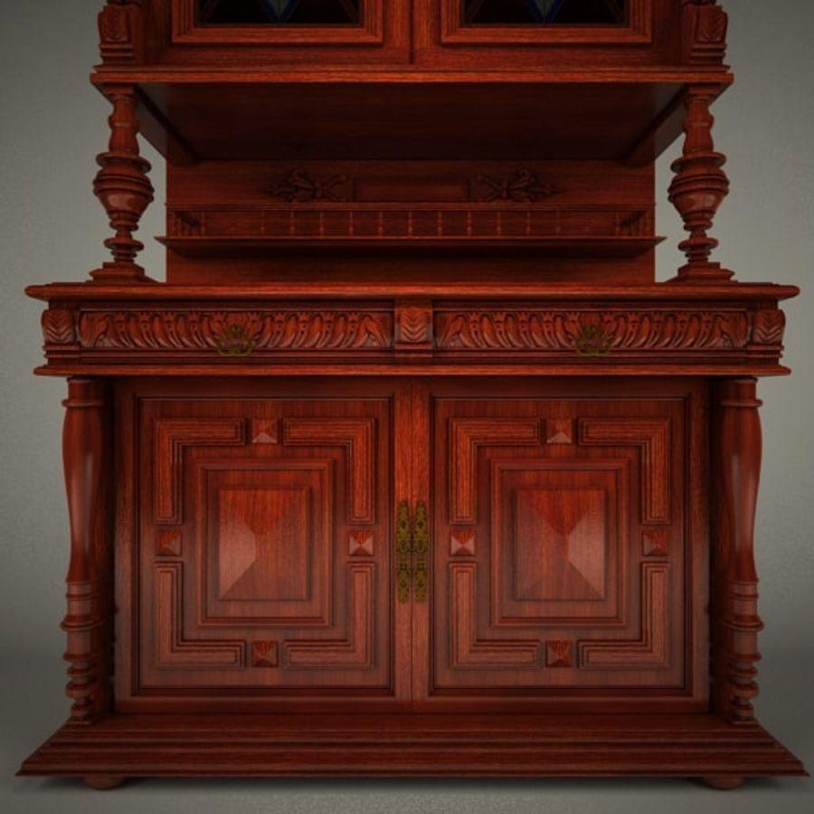 Klassischer antiker Möbelschrank-Marmeladenschrank royalty-free 3d model - Preview no. 4