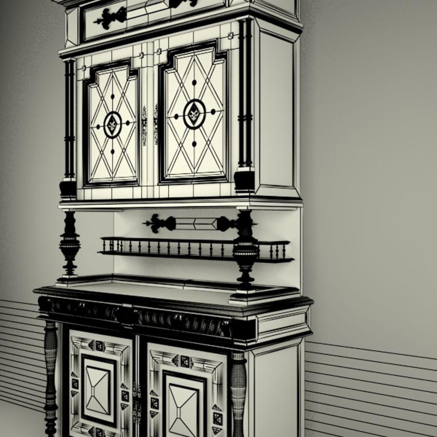 Klassischer antiker Möbelschrank-Marmeladenschrank royalty-free 3d model - Preview no. 9