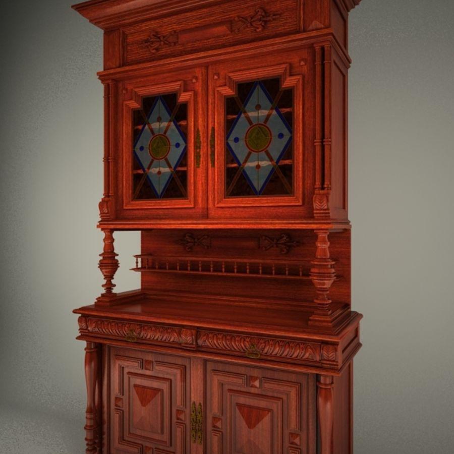 Klassischer antiker Möbelschrank-Marmeladenschrank royalty-free 3d model - Preview no. 5