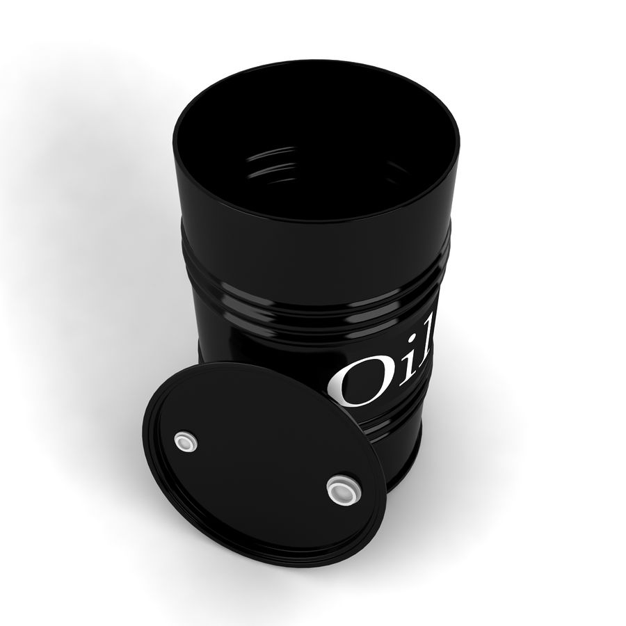 Oil Drum royalty-free 3d model - Preview no. 3