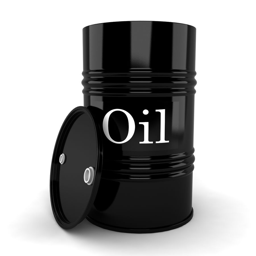 Oil Drum royalty-free 3d model - Preview no. 4