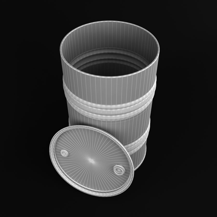 Oil Drum royalty-free 3d model - Preview no. 7