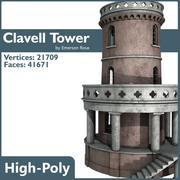 Torre clavell modelo 3d
