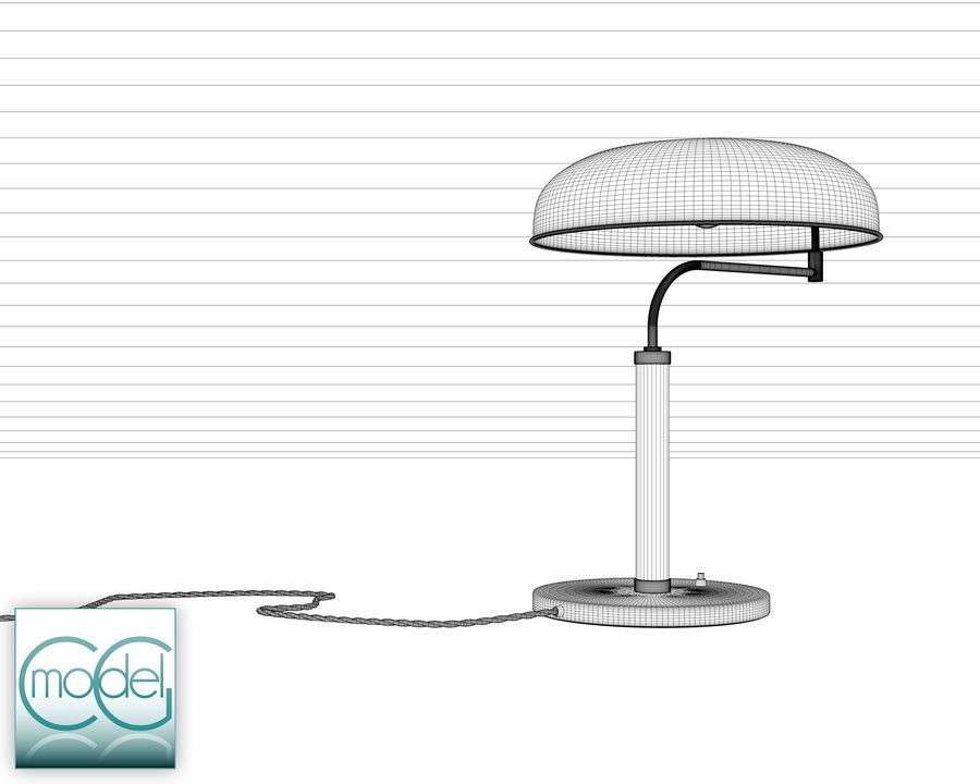 vintage lamp royalty-free 3d model - Preview no. 7
