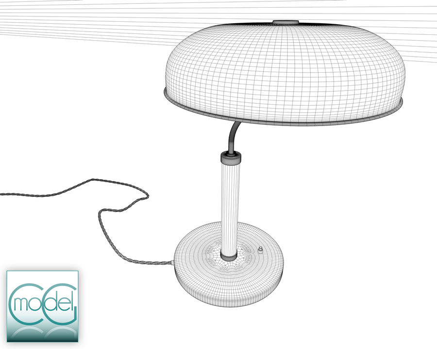 vintage lamp royalty-free 3d model - Preview no. 8
