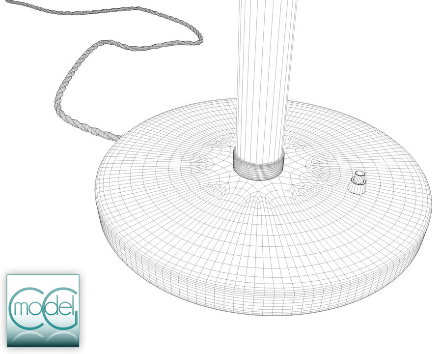 vintage lamp royalty-free 3d model - Preview no. 10