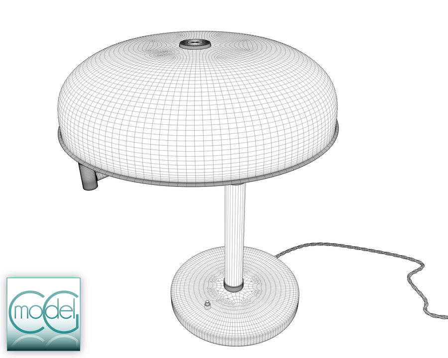 vintage lamp royalty-free 3d model - Preview no. 9