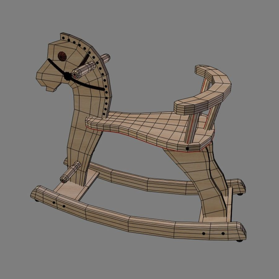 Rocking horse 1 royalty-free 3d model - Preview no. 4