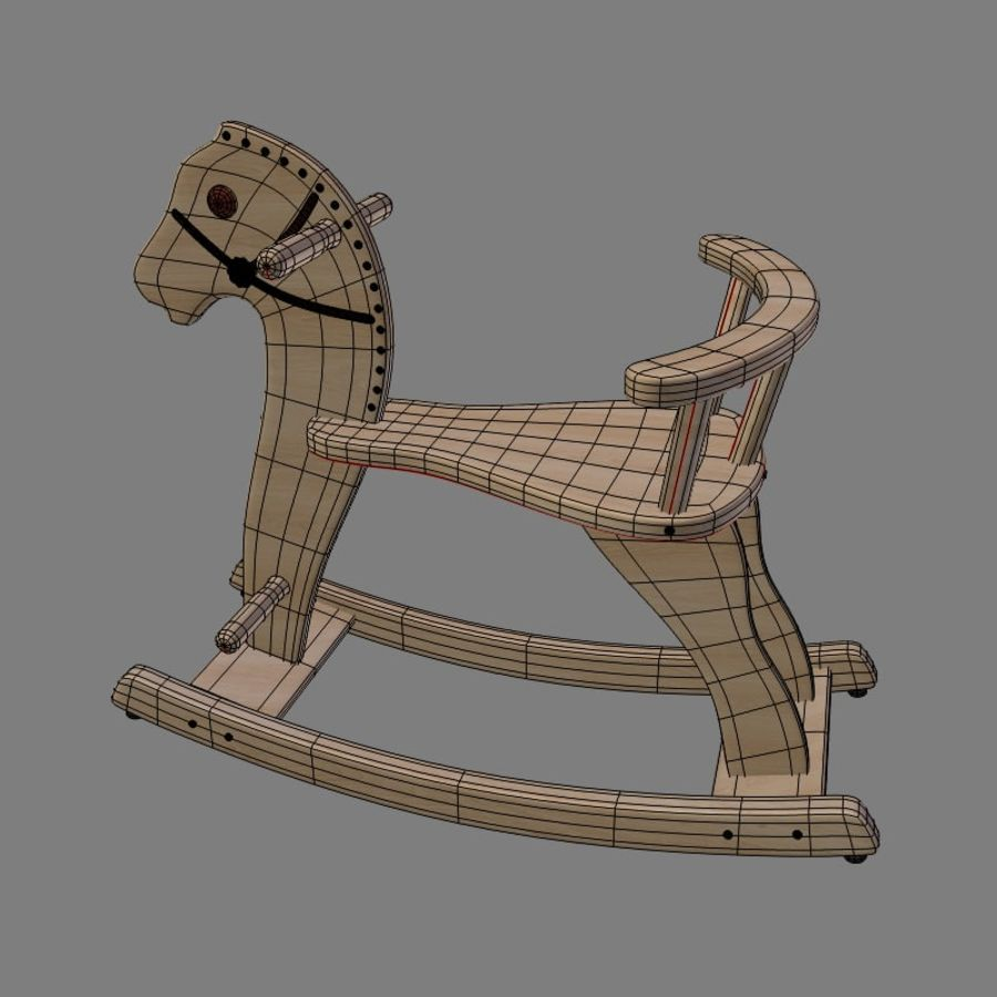 Rocking horse 1 royalty-free 3d model - Preview no. 3