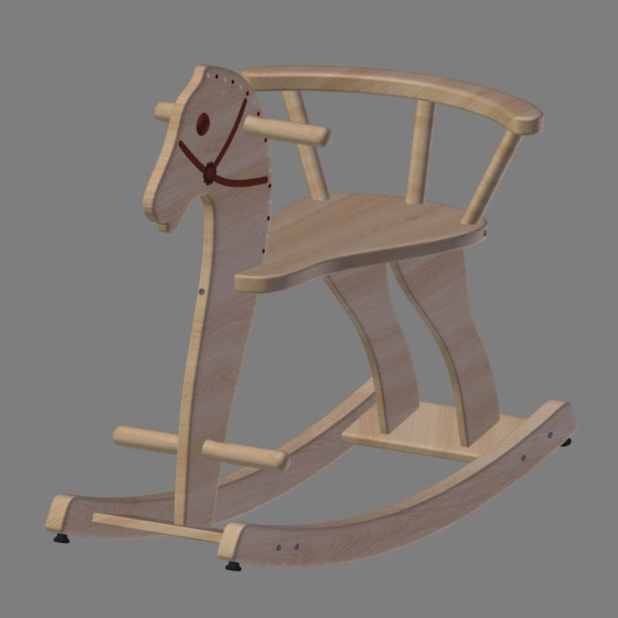 Rocking horse 1 royalty-free 3d model - Preview no. 5