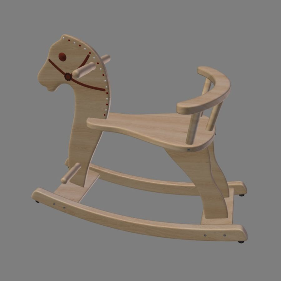 Rocking horse 1 royalty-free 3d model - Preview no. 2