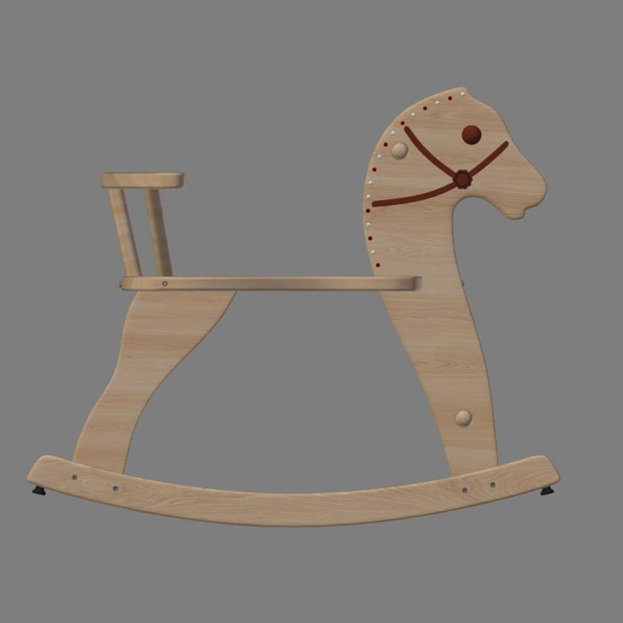 Rocking horse 1 royalty-free 3d model - Preview no. 8