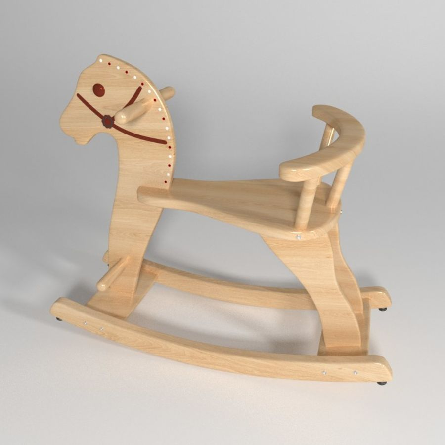 Rocking horse 1 royalty-free 3d model - Preview no. 1