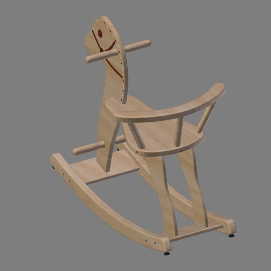 Rocking horse 1 royalty-free 3d model - Preview no. 6