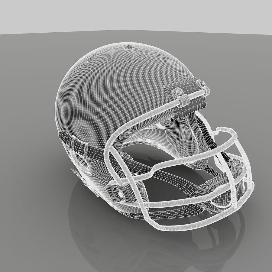 Casque de football américain royalty-free 3d model - Preview no. 7